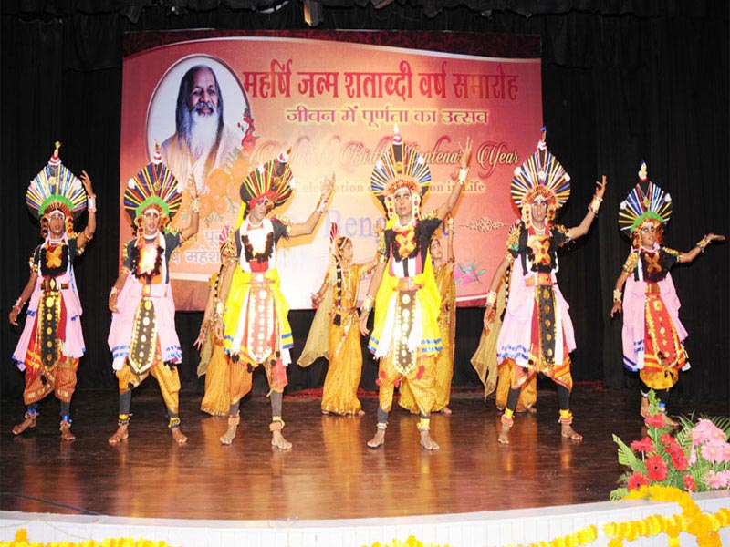 maharishi school of excellence bangalore have performed traditional folk dance