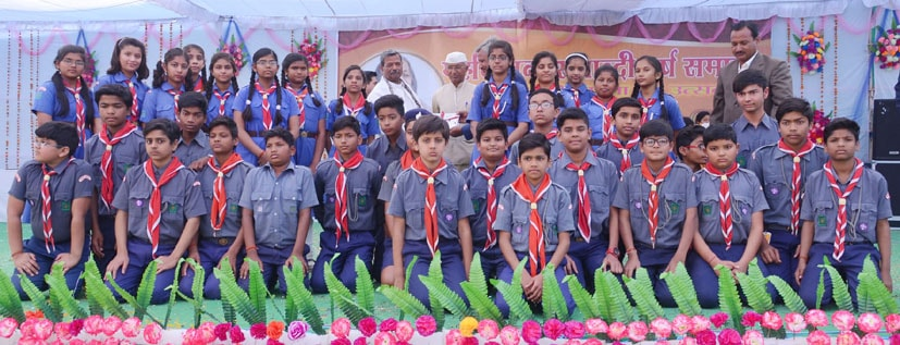 Scout Team who volunteered to maintain discipline during the whole celebration