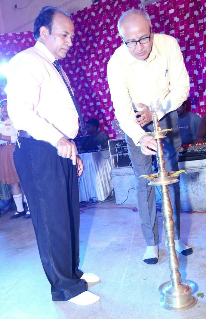 lighting the lamp of knowledge during inauguration of celebration