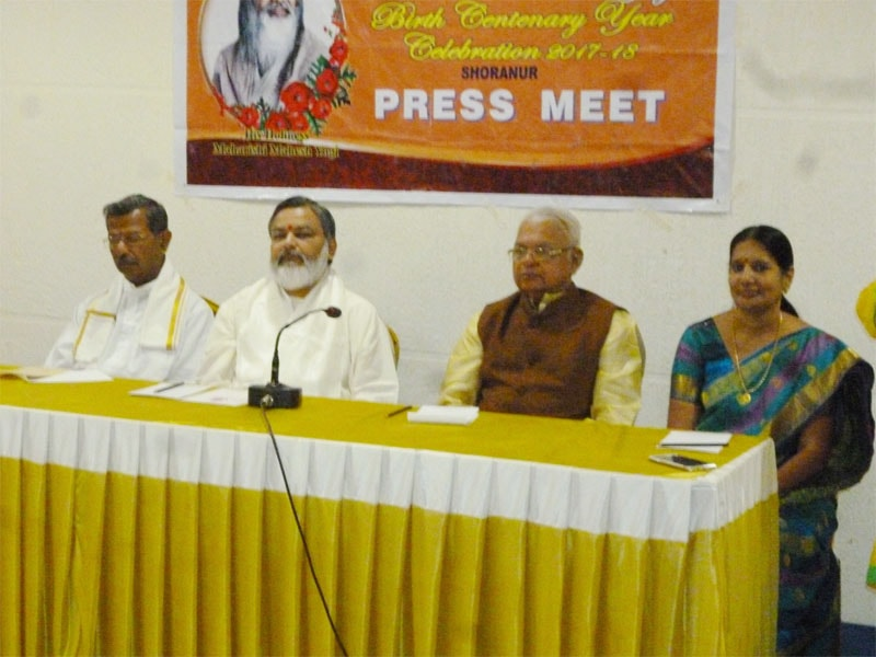 a press conference was organized a day before maharishi birth centenary celebration