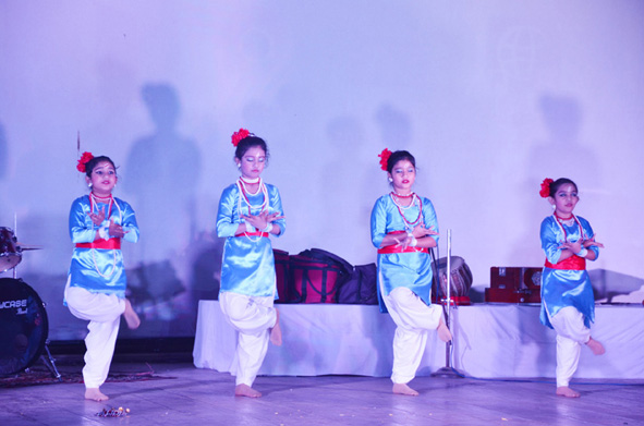 mvm silchar have performed beautiful folk and traditional dance
