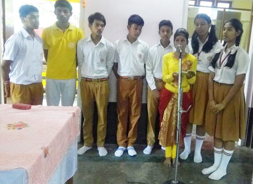 students of mvm tejpur have performed many spiritual songs